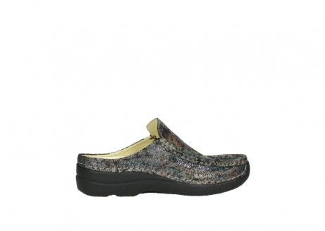 wolky clogs 6202 roll slide 428 grau metallic veloursleder_12