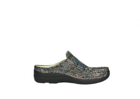 wolky clogs 6202 roll slide 428 grau metallic veloursleder_13
