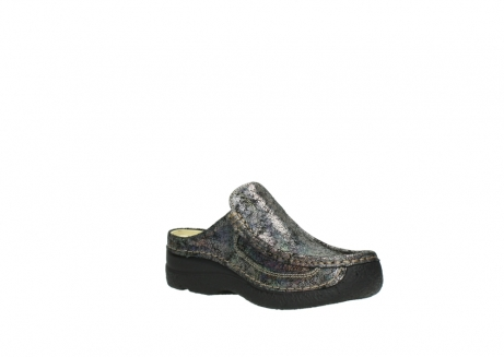 wolky clogs 6202 roll slide 428 grau metallic veloursleder_16