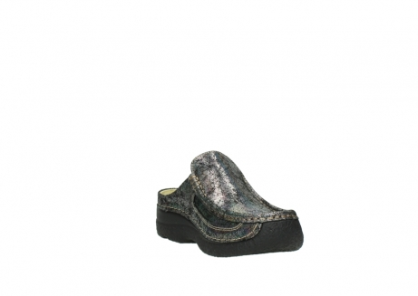 wolky clogs 6202 roll slide 428 grau metallic veloursleder_17
