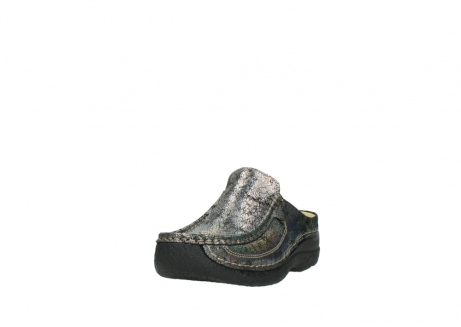 wolky clogs 6202 roll slide 428 grau metallic veloursleder_21