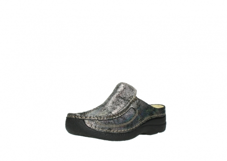 wolky clogs 6202 roll slide 428 grau metallic veloursleder_22