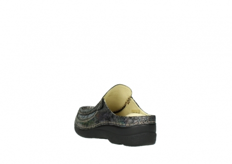 wolky clogs 6202 roll slide 428 grau metallic veloursleder_5