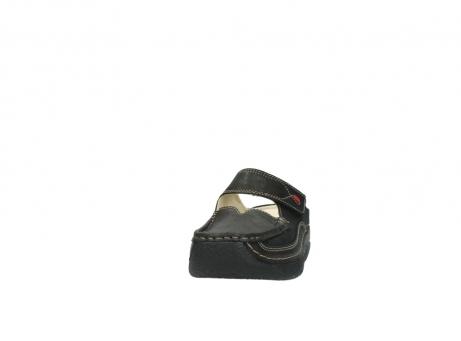wolky clogs 6227 roll slipper 130 braun metallic leder meliert_20