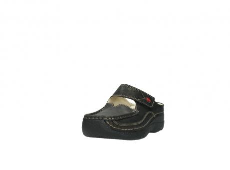 wolky clogs 6227 roll slipper 130 braun metallic leder meliert_21