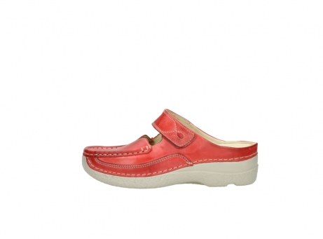 wolky klompen 6227 roll slipper 357 rood zomer leer_1