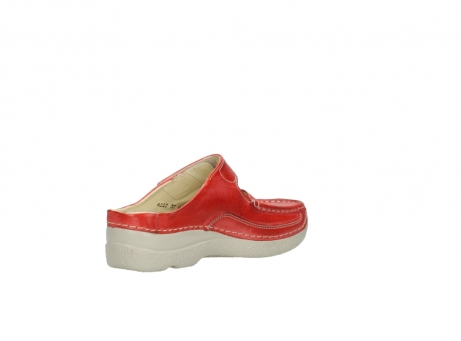 wolky klompen 6227 roll slipper 357 rood zomer leer_10