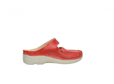wolky klompen 6227 roll slipper 357 rood zomer leer_12