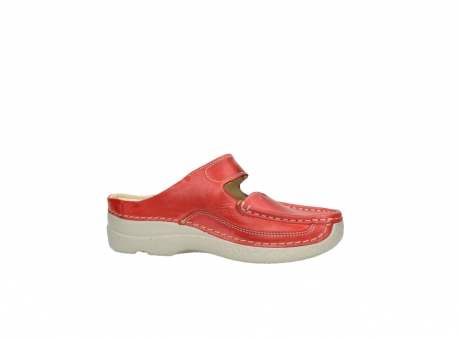 wolky klompen 6227 roll slipper 357 rood zomer leer_14
