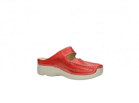wolky klompen 6227 roll slipper 357 rood zomer leer_15