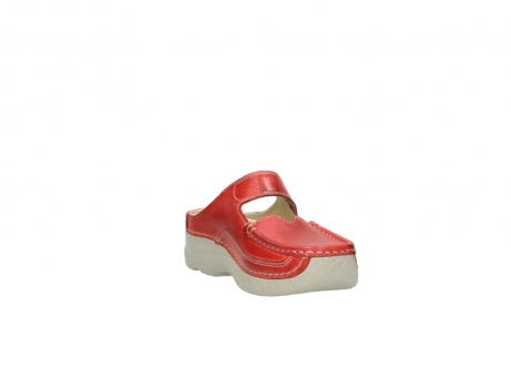 wolky klompen 6227 roll slipper 357 rood zomer leer_17