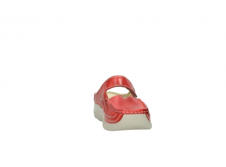 wolky klompen 6227 roll slipper 357 rood zomer leer_18