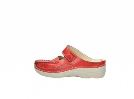 wolky klompen 6227 roll slipper 357 rood zomer leer_2