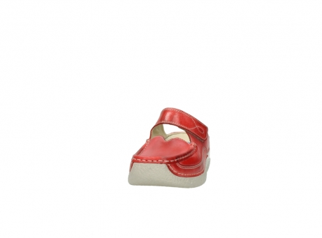 wolky klompen 6227 roll slipper 357 rood zomer leer_20
