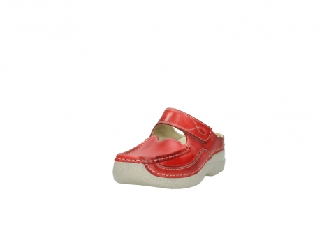 wolky klompen 6227 roll slipper 357 rood zomer leer_21
