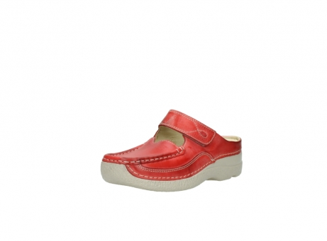 wolky klompen 6227 roll slipper 357 rood zomer leer_22