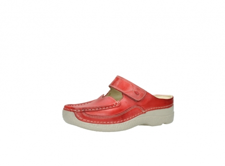 wolky klompen 6227 roll slipper 357 rood zomer leer_23