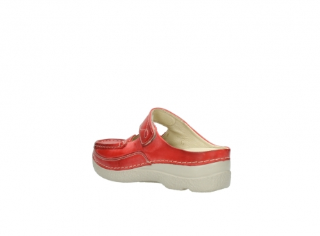 wolky klompen 6227 roll slipper 357 rood zomer leer_4
