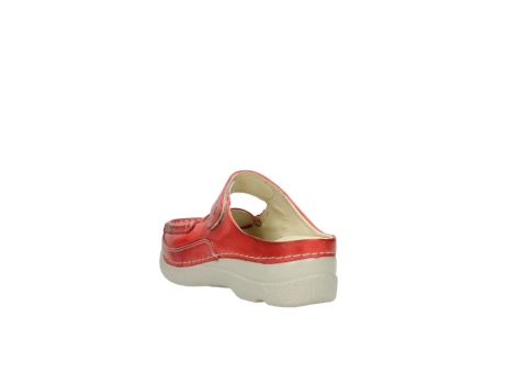 wolky klompen 6227 roll slipper 357 rood zomer leer_5