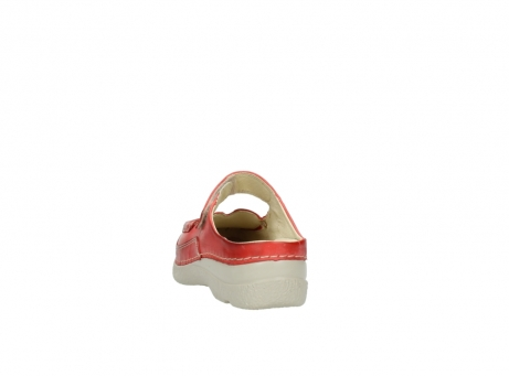 wolky klompen 6227 roll slipper 357 rood zomer leer_6
