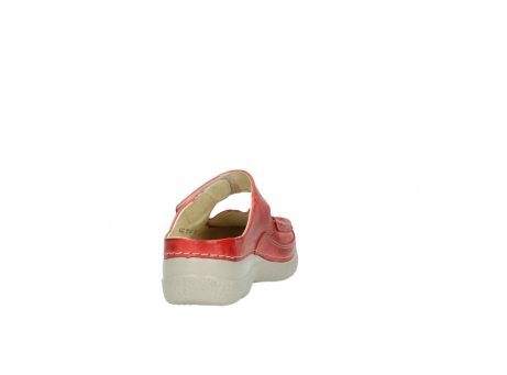 wolky klompen 6227 roll slipper 357 rood zomer leer_8