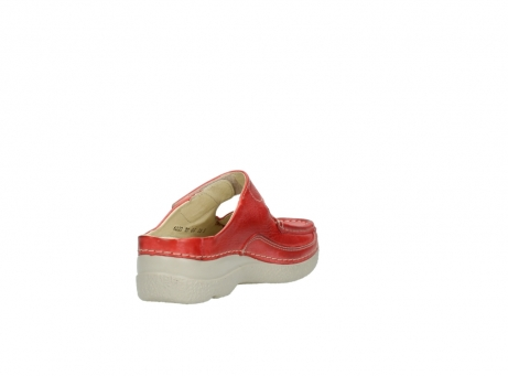 wolky klompen 6227 roll slipper 357 rood zomer leer_9
