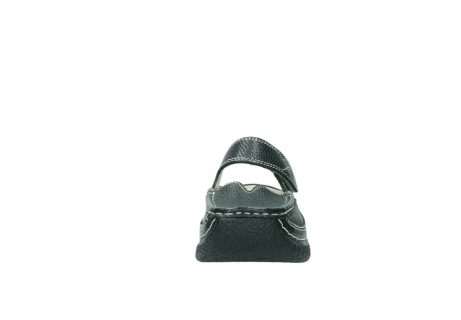 wolky klompen 6227 roll slipper 700 zwart geprint leer_19