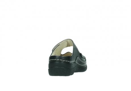 wolky klompen 6227 roll slipper 700 zwart geprint leer_8