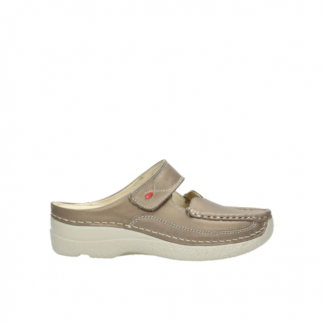 wolky klompen 6227 roll slipper 815 taupe leer
