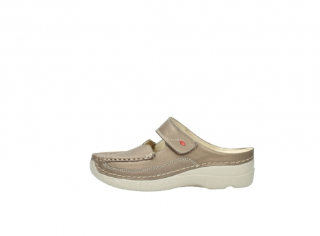 wolky klompen 6227 roll slipper 815 taupe leer_1
