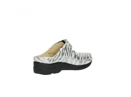 wolky clogs 6227 roll slipper 912 zebra print metallic leder_10