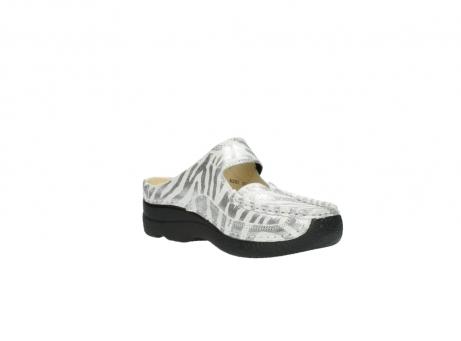 wolky clogs 6227 roll slipper 912 zebra print metallic leder_16