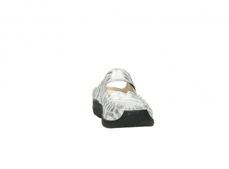 wolky clogs 6227 roll slipper 912 zebra print metallic leder_18