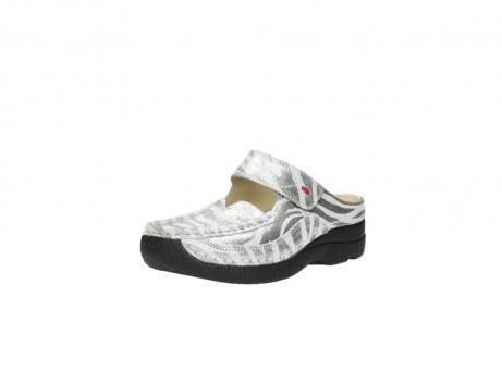 wolky clogs 6227 roll slipper 912 zebra print metallic leder_22