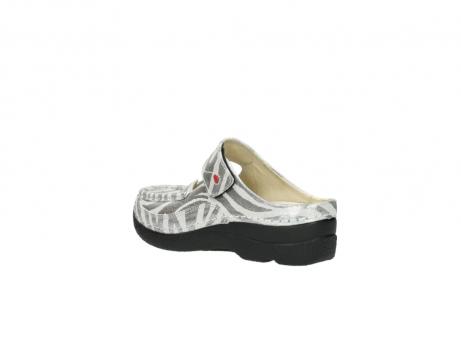 wolky clogs 6227 roll slipper 912 zebra print metallic leder_4