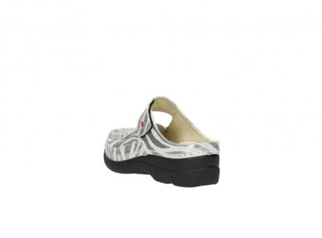 wolky clogs 6227 roll slipper 912 zebra print metallic leder_5