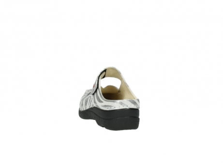 wolky clogs 6227 roll slipper 912 zebra print metallic leder_6