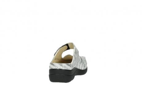 wolky clogs 6227 roll slipper 912 zebra print metallic leder_8