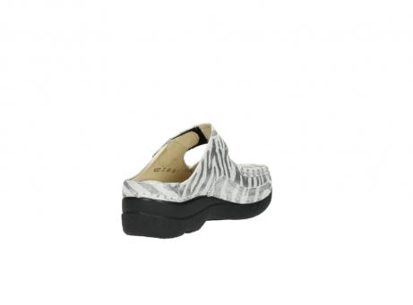 wolky clogs 6227 roll slipper 912 zebra print metallic leder_9