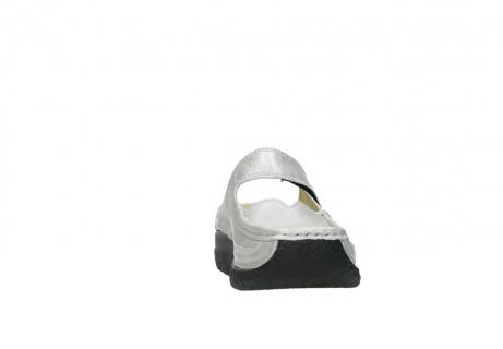 wolky klompen 6227 roll slipper 919 parelwit metallic leer_18