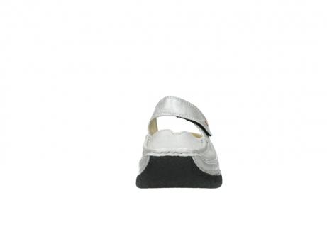 wolky klompen 6227 roll slipper 919 parelwit metallic leer_19