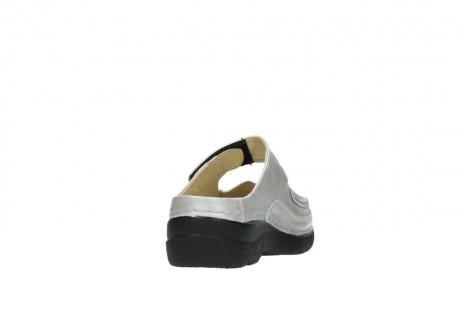wolky klompen 6227 roll slipper 919 parelwit metallic leer_8