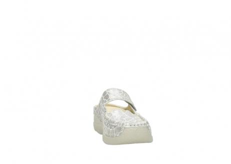 wolky klompen 6227 roll slipper 962 girafprint metallic leer_18