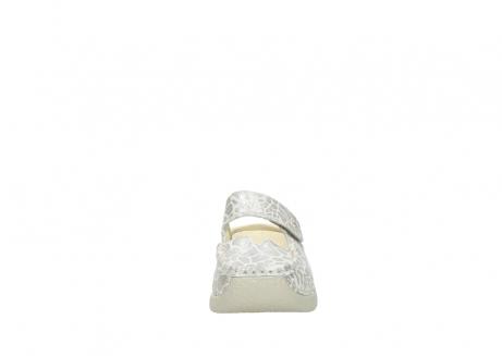 wolky klompen 6227 roll slipper 962 girafprint metallic leer_19