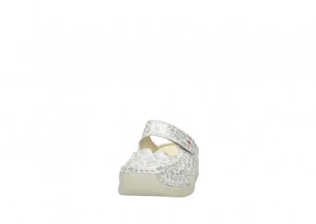 wolky klompen 6227 roll slipper 962 girafprint metallic leer_20
