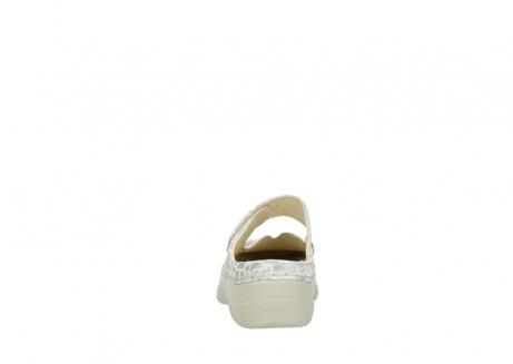 wolky klompen 6227 roll slipper 962 girafprint metallic leer_7