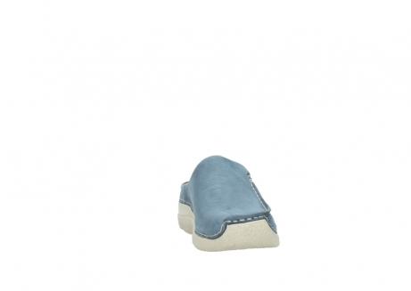 wolky klompen 6250 seamy slide 182 denim blauw nubuck_18