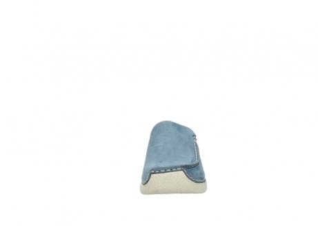 wolky klompen 6250 seamy slide 182 denim blauw nubuck_19