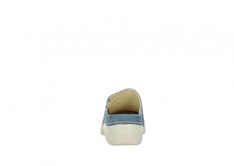 wolky klompen 6250 seamy slide 182 denim blauw nubuck_7