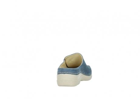 wolky klompen 6250 seamy slide 182 denim blauw nubuck_8